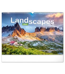 Nástenný kalendár Krajiny 2021, 48 × 33 cm