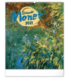 Nástenný kalendár Claude Monet 2021, 48 × 56 cm
