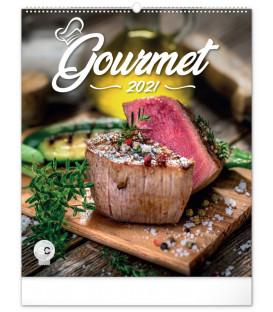 Nástenný kalendár Gourmet 2021, 48 × 56 cm