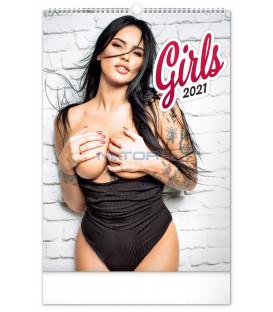 Nástenný kalendár Girls 2021, 33 × 46 cm