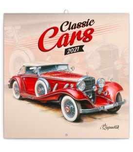 Poznámkový kalendár Classic Cars – Václav Zapadlík, 2021, 30 × 30 cm