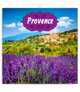 Poznámkový kalendár Provence 2021, voňavý, 30 × 30 cm