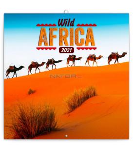 Poznámkový kalendár Divoká Afrika 2021, 30 × 30 cm