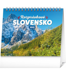 Stolový kalendár Rozprávkové Slovensko SK 2021, 16,5 × 13 cm
