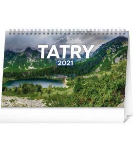 Stolový kalendár Tatry SK 2021, 23,1 × 14,5 cm