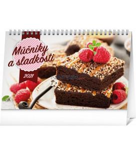 Stolový kalendár Múčniky a sladkosti SK 2021, 23,1 × 14,5 cm