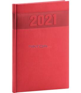 Týždenný diár Aprint 2021, červený, 15 × 21 cm