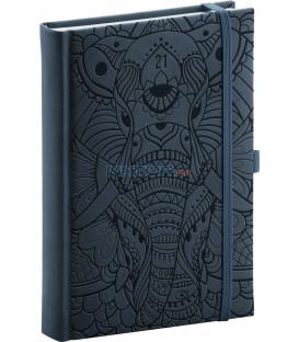 Denný diár Vivella Fun 2021, slon, 15 × 21 cm