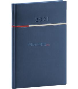 Týždenný diár Tomy modro-červený, 2021 15 × 21 cm