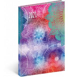 Týdenný diár Cambio Fun 2021, Mandala, 15 × 21 cm