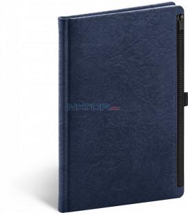 Notes Hardy, modrý, linajkovaný, 13 × 21 cm