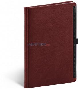 Notes Hardy, červený, linajkovaný, 13 × 21 cm