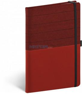 Notebook Skiver, červenovínový, linajkovaný, 13 × 21 cm