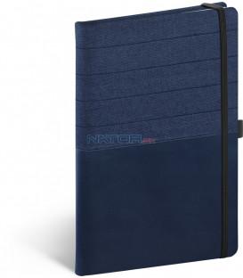 Notebook Skiver, modromodrý, linajkovaný, 13 × 21 cm