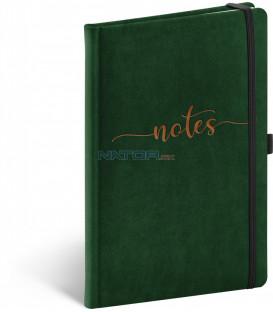 Notes Samet Typo, linajkovaný, 13 × 21 cm