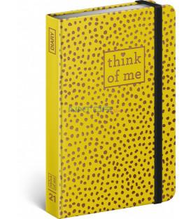 Týždenný diár Bodky – Think of me 2021, 11 × 16 cm