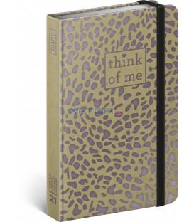 Týždenný diár Craft Puma – Think of me 2021, 11 × 16 cm