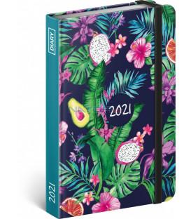 Týždenný diár Ovocie 2021, 11 × 16 cm