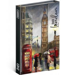 Týždenný magnetický diár Londýn 2021, 11 × 16 cm