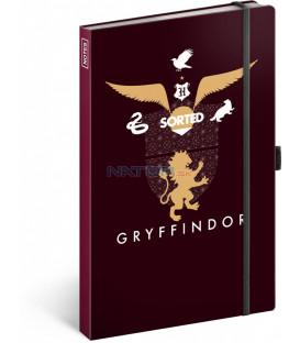 Notes Harry Potter – Gryffindor, linajkovaný, 13 × 21 cm