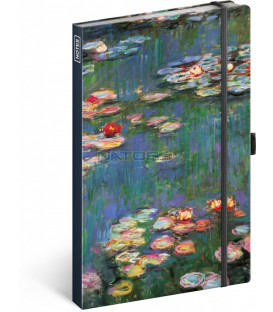 Notes Claude Monet, linajkovaný, 13 × 21 cm