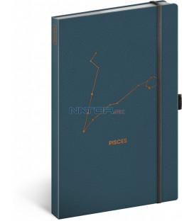 Notes Zverokruh Ryby, linajkovaný, 13 × 21 cm