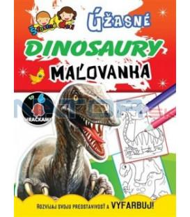 Maľovanka so 6 hračkami - Úžasné dinosaury