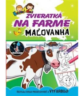 Maľovanka so 6 hračkami - Zvieratká na farme