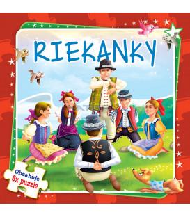 Kniha Riekanky-6x puzzle - Obsahuje 6x puzzle