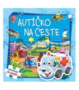 Kniha Autíčko na ceste -6x puzzle - Obsahuje 6x puzzle