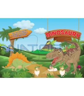 Maľovanka Dinosaury - viac než 500 nálepiek