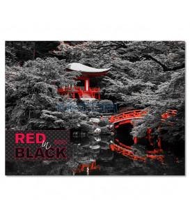 Red in black