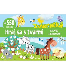 Zvieratká +550 nálepiek   Hraj sa s tvarmi