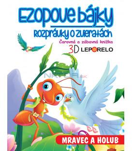 Ezopove bájky - Mravec a holub (3D leporelo)