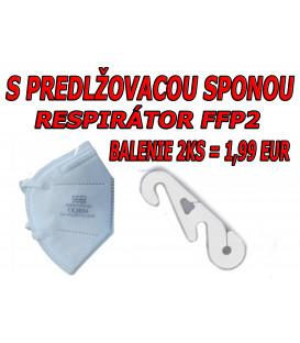 RESPIRÁTOR FFP2 NR 9450B BIELY - BALENIE 2KS