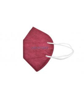 Respirátor FFP2 NR MZ Manreally - Vínový BALENIE 2 KS