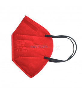 Respirátor FFP2 NR MZ Manreally - Červený BALENIE 2 KS