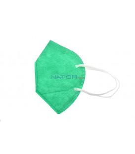 Respirátor FFP2 NR MZ Manreally - Tmavo zelený BALENIE 2 KS