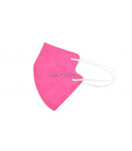 Detský respirátor FFP2 NR MY-002 - Tmavo ružový, BALENIE 3 KS