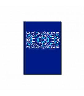 Notes Mini – Folk Ornament Modrý