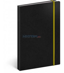 Notes Tucson čierny/žltý linajkovaný 13 × 21 cm