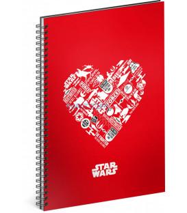 Špirálový blok Star Wars – Red čistý A5