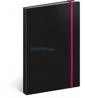 Notes Tucson čierny/ružový linajkovaný 13 × 21 cm