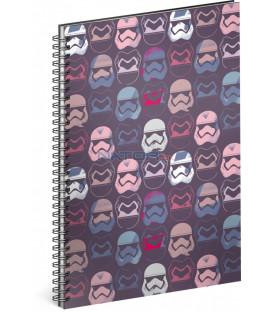 Špirálový blok Star Wars – Pattern linajkovaný A5
