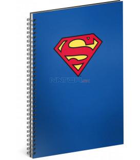 Špirálový blok Superman – Blue linajkovaný A4