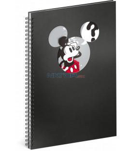 Špirálový blok Mickey – Question linajkovaný A4