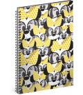 Špirálový blok Minnie – Yellow linajkovaný A4