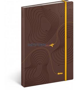 Cestovateľský notes linajkovaný 13 × 21 cm