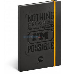 Motivačný notes linajkovaný 13 × 21 cm