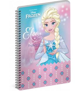 Špirálový blok Frozen – Ľadové kráľovstvo Elsa A4 linajkovaný